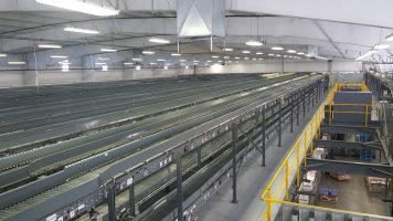 distribution center conveyor support mezzanine system