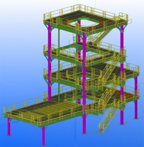 steel support structure CAD