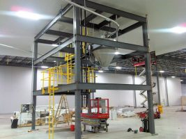 hopper support structure, steel