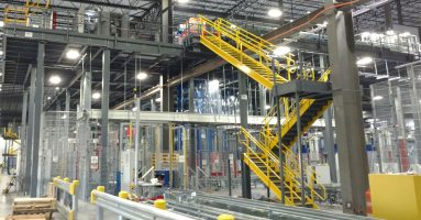 distribution center material handling mezzanine