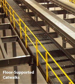 floor-supported catwalk