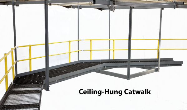 ceiling-hung catwalk