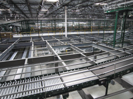 mezzanine system for distribution center