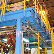 custom color finishes for equipment platform mezzanines