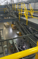 multi-level distribution center mezzanine