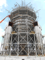 mining dry tower support structure