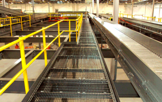 catwalk in retail distribution center