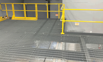 bar grating on mezzanine