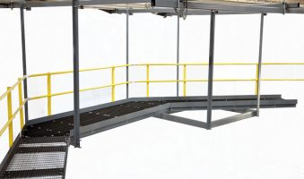 ceiling-hung access catwalk